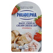 Philadelphia Strawberry Bagel Chips and Cream Cheese Dip, 2.5 Ounce -- 10 per case.