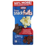 Kraft Trios Snacks - Extra Sharp White Cheddar Dried Cranberries and Dark Chocolate, 2.25 Ounce -- 10 per case.