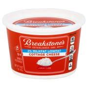 Breakstones Lowfat Cottage Cheese 2 Percent Milk Fat Large Curd, 1 Pound -- 12 per case.