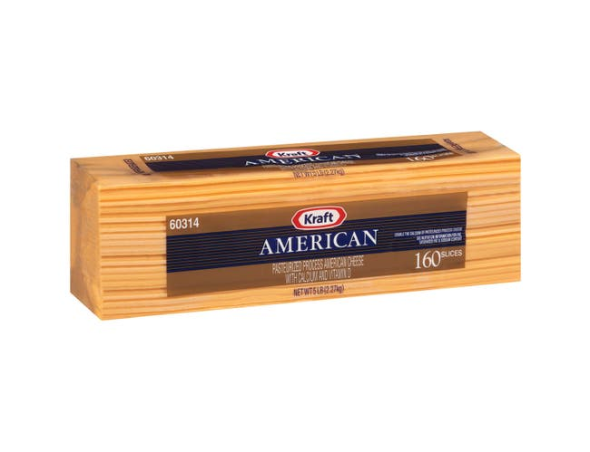 Kraft American Sliced Cheese, 5 Pound -- 4 per case.