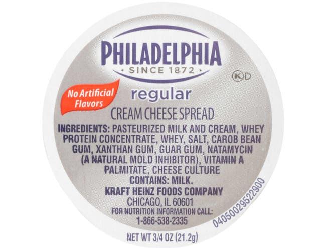 Kraft Philadelphia Original Cream Cheese Spread - Cup, 3/4 Ounce -- 100 per case.