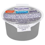 Kraft Philadelphia Light Cream Cheese - Cup, 1 Ounce -- 100 per case.