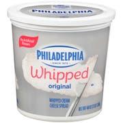 Kraft Philadelphia Whipped Cream Cheese - Tub, 3 Pound -- 6 per case.