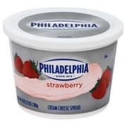 Kraft Philadelphia Strawberry Cream Cheese - Tub, 3 Pound -- 6 per case.