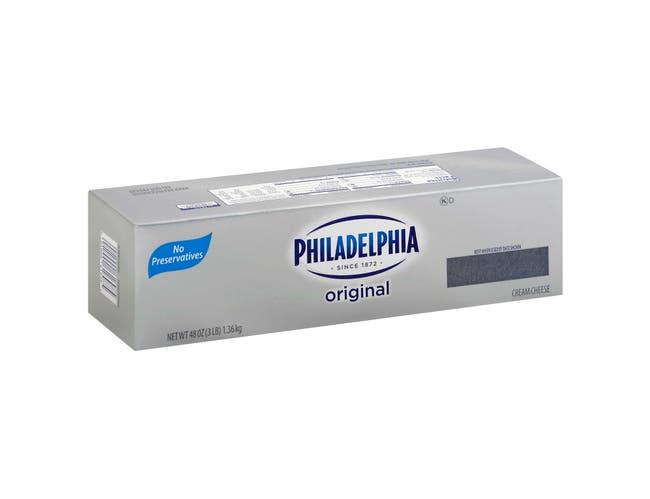 Kraft Philadelphia Cream Cheese Loaf, 3 Pound -- 6 per case.