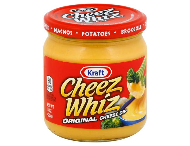 Kraft Cheez Whiz Original Plain Cheese Dip, 15 Ounce -- 12 per case.