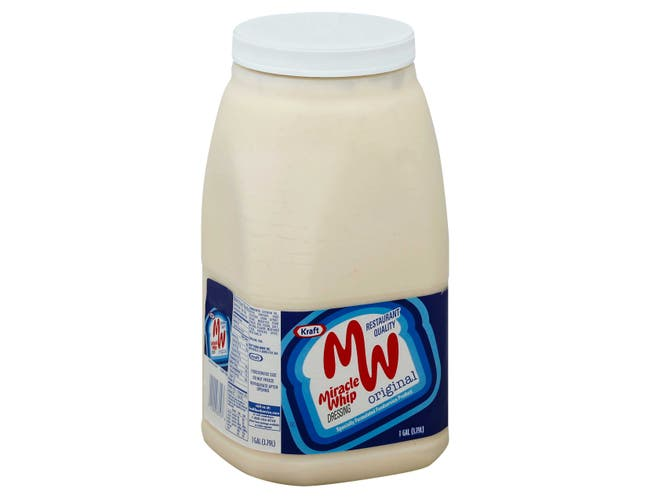 Krafts Miracle Whip Dressing Foodservice Label Only, 1 Gallon -- 4 per case.