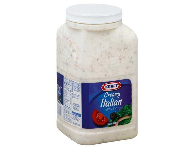 Dressing Kraft Creamy Italian 4 Count 1 Gallon