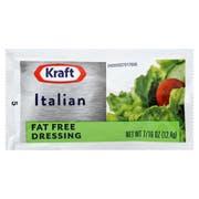 Dressing Kraft Italian Fat Free Pouch 200 Case 0.44  Ounce Each