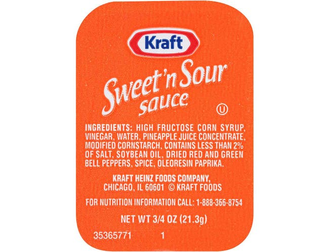 Kraft Single Serve Sweet n' Sour Sauce Cup, 0.75 ounce -- 200 per case
