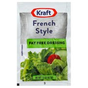 Kraft Fat Free French Style Dressing Pouch, 1.5 Ounce -- 60 per case
