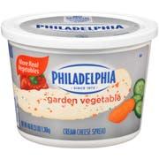 Kraft Philadelphia Garden Vegetable Cream Cheese - Tub, 3 Pound -- 6 per case.