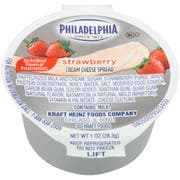Kraft Philadelphia Strawberry Cream Cheese - Cup, 1 Ounce -- 100 per case.