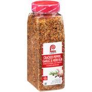 Lawry`s Cracked Pepper, Garlic & Herb Rub, 24 oz. -- 6 per case