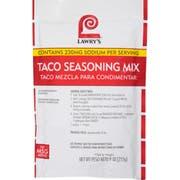 Lawry`s Taco Seasoning Mix, 9 oz. -- 6 per case
