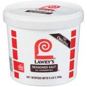 Lawry`s Seasoned Salt, 5 lb. tub -- 4 per case