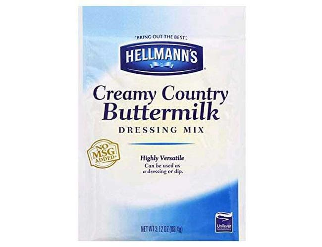 Hellmann's Creamy Country Buttermilk Ranch Salad Dressing Dry Mix Pouch, 3.12 ounce -- 18 per case