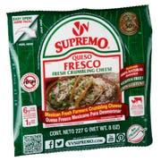 Supremo Queso Fresco Fresh Crumbling Cheese, 8 Ounce -- 12 per case.