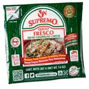 Supremo Queso Fresco Fresh Crumbling Cheese, 14 Ounce -- 12 per case.