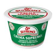 Supremo Crema Supremo Mexican Style Sour Cream, 15 Ounce -- 12 per case