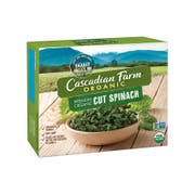 Cascadian Farm Organic Chopped Spinach, 10 Ounce -- 12 per case.