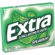 Wrigley Single Serve Extra Spearmint Gum - 15 Piece, 10 per pack -- 12 packs per case.