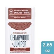 Schmidts Cedarwood plus Juniper Deodorant Stick, 2.65 Ounce -- 12 per case