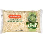 Silver Floss Shredded Sauerkraut - 2 lb. poly bag, 12 bags per case.