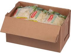 Silver Floss Shredded Sauerkraut - 2 lb. poly bag, 12 bags per case.