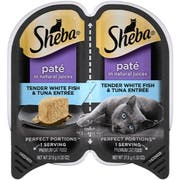 Sheba Premium Pate Tender Whitefish and Tuna Entree Wet Cat Food, 2.6 Ounce  -- 24 per case