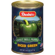 Dunbars Diced Green Peppers, 15 Ounce -- 24 per case