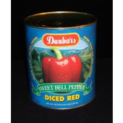 """Moody Dunbar 1/4"""" Diced Red Pepper - no. 10 can,  6 cans per case.  Regular Pack"""