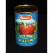 Moody Dunbar Diced Red Peppers - 15 oz., 24 cans per case