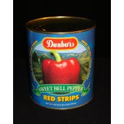 Moody Dunbar Red Pepper Strips - no.10 can, 6 cans per case