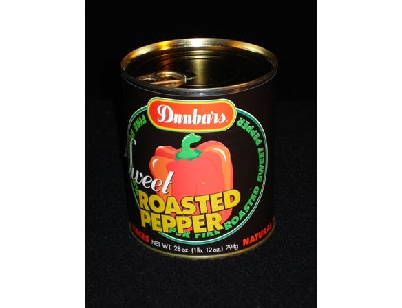 Dunbars Fire Roasted Red Peppers - 28 oz. can, 12 cans per case