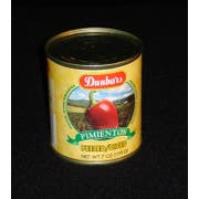 Moody Dunbar Diced Peeled Pimiento - 7 oz. can, 24 cans per case