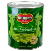 Del Monte Blue Lake Fancy Cut Green Beans, Number 10 Can -- 6 cans per case.