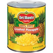 Pineapple Delmonte Coarse Crushed Packed In Juice 6 no.10 Can