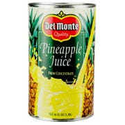 Del Monte Pineapple Juice, 46 Ounce -- 12 per case.