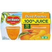 Del Monte Diced Peaches In 100 Percent Juice, 4 ounce -- 24 cups per case