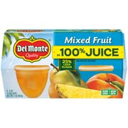 Del Monte Mixed Fruit Cup in Lightly Sweetened Juice and Water, 4 Ounce -- 6 per case.