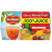 Del Monte Mixed Fruit with Cherry Flavor in Juice, 4 Ounce Plastic Cup - 4 count per pack -- 6 packs per case
