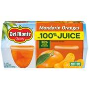 Del Monte Mandarin Oranges in 100 Percent Juice, 4 count per pack -- 6 per case
