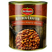Del Monte Kitchen Crafted Sriracha Pinto Beans, 112 Ounce Can -- 6 per case.