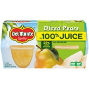 Del Monte Diced Pears Cup in Lightly Sweetened Juice and Water, 16 Ounce -- 6 per case.