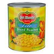 Del Monte Usda Diced Peaches in Extra Light Syrup, 105 Ounce Can -- 6 per case.