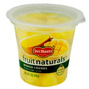 Del Monte Fruit Naturals Mango Chunks in Extra Light Syrup, 7 Ounce Cup -- 12 per case.