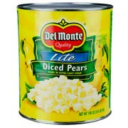 Delmonte Lite Diced Pears In Extra Light Syrup, 105 Ounce Can -- 6 per case.