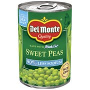 Del Monte 50 Percent Less Sodium Sweet Peas, 15 Ounce -- 12 per case.