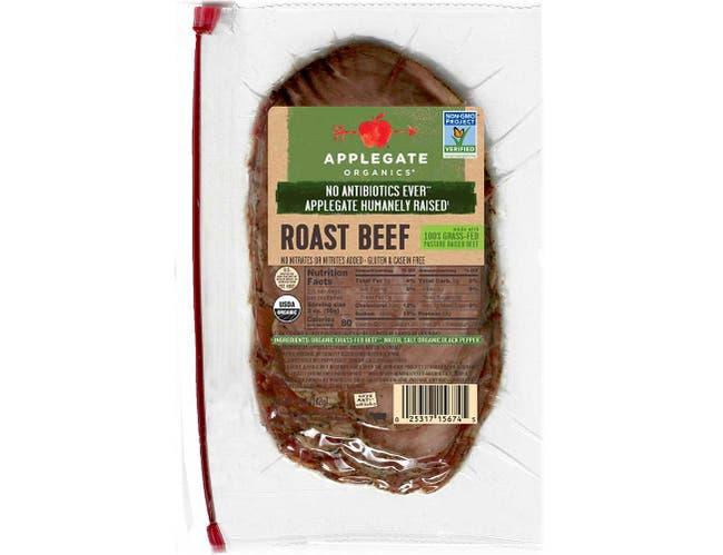 Applegate Organic Sliced Roast Beef, 6 Ounce -- 12 per case.